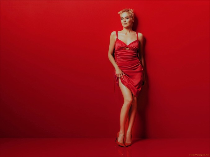 sharon-stone-in-a-sexy-red-dress